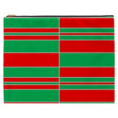 Christmas Colors Red Green Cosmetic Bag (xxxl)