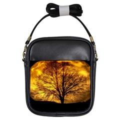 Moon Tree Kahl Silhouette Girls Sling Bags