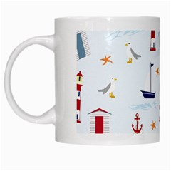 Seaside Beach Summer Wallpaper White Mugs by Nexatart