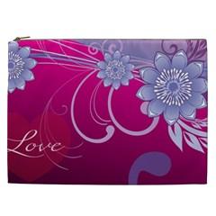 Love Flowers Cosmetic Bag (xxl)  by Nexatart