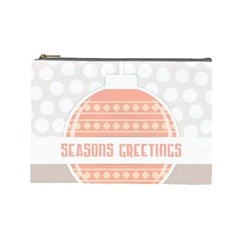 Merry Christmas Cosmetic Bag (large)  by Nexatart