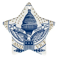 Presidential Inauguration Usa Republican President Trump Pence 2017 Logo Star Ornament (two Sides)