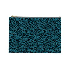 Blue Coral Pattern Cosmetic Bag (large)  by Valentinaart