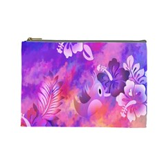 Abstract Flowers Bird Artwork Cosmetic Bag (large)  by Nexatart