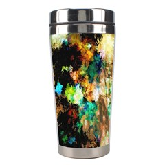 Abstract Digital Art Stainless Steel Travel Tumblers by Nexatart