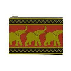 Elephant Pattern Cosmetic Bag (large)  by Nexatart