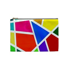 Geometric Blocks Cosmetic Bag (medium)