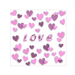 Love Valentine S Day 3d Fabric Small Satin Scarf (square) by Nexatart