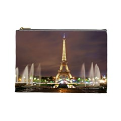 Paris Eiffel Tower Cosmetic Bag (large)  by Nexatart
