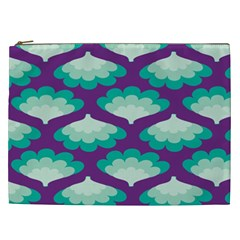 Purple Flower Fan Cosmetic Bag (xxl)  by Jojostore