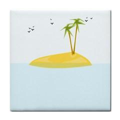 Summer Sea Beach Tile Coasters by Jojostore