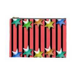 Star Christmas Greeting Cosmetic Bag (large)  by Nexatart