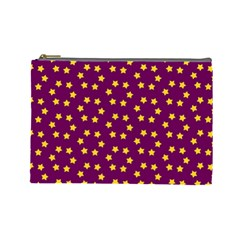 Star Christmas Red Yellow Cosmetic Bag (large)  by Nexatart