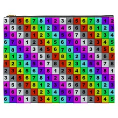 Mapping Grid Number Color Cosmetic Bag (xxxl)  by Jojostore