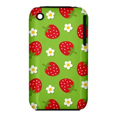 Strawberries Flower Floral Red Green Iphone 3s/3gs by Jojostore