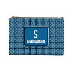 S For Stephen Cosmetic Bag (large) by daydreamer