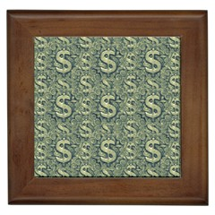 Money Symbol Ornament Framed Tiles