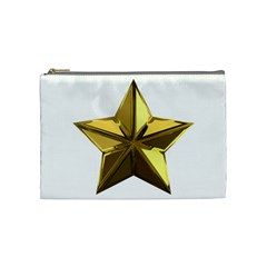 Stars Gold Color Transparency Cosmetic Bag (medium)