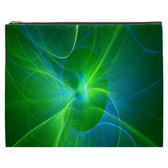 Line Green Light Cosmetic Bag (xxxl)  by Jojostore