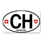 CH - Switzerland Euro Oval Magnet (Rectangular)