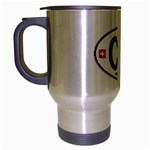 CH - Switzerland Euro Oval Travel Mug (Silver Gray)