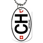 CH - Switzerland Euro Oval Dog Tag (One Side)