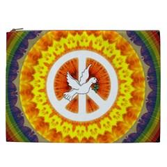 Peace Art Artwork Love Dove Cosmetic Bag (xxl)  by Nexatart