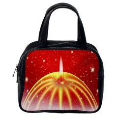 Advent Candle Star Christmas Classic Handbags (one Side) by Nexatart