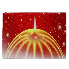 Advent Candle Star Christmas Cosmetic Bag (xxl)