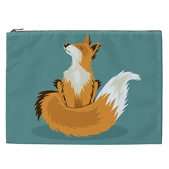 Animal Wolf Orange Fox Cosmetic Bag (xxl)