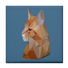 Animals Face Cat Tile Coasters
