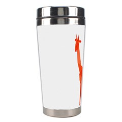 Animal Giraffe Orange Stainless Steel Travel Tumblers by Alisyart
