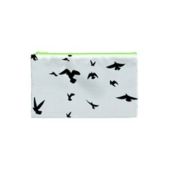 Bird Fly Black Cosmetic Bag (xs) by Alisyart