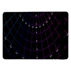 Formula Number Line Purple Natural Samsung Galaxy Tab Pro 12 2  Flip Case by Alisyart