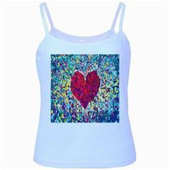 Geometric Heart Diamonds Love Valentine Triangle Color Baby Blue Spaghetti Tank by Alisyart