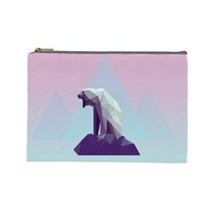 Polar Bears Animals White Cosmetic Bag (large)  by Alisyart