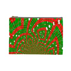 Background Abstract Christmas Pattern Cosmetic Bag (large)  by Nexatart