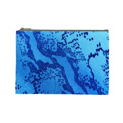Background Tissu Fleur Bleu Cosmetic Bag (large)  by Nexatart
