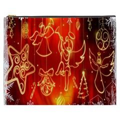 Christmas Widescreen Decoration Cosmetic Bag (xxxl)  by Nexatart