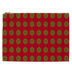 Christmas Paper Wrapping Paper Cosmetic Bag (xxl)  by Nexatart
