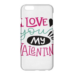 I Love You My Valentine (white) Our Two Hearts Pattern (white) Apple Iphone 6 Plus/6s Plus Hardshell Case