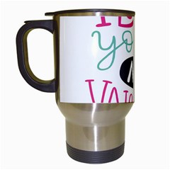 I Love You My Valentine (white) Our Two Hearts Pattern (white) Travel Mugs (white)