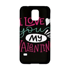 I Love You My Valentine / Our Two Hearts Pattern (black) Samsung Galaxy S5 Hardshell Case