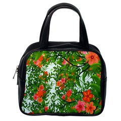 Flower Background Backdrop Pattern Classic Handbags (one Side) by Nexatart