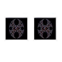 Fractal Complexity Geometric Cufflinks (square) by Nexatart