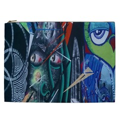 Graffiti Art Urban Design Paint Cosmetic Bag (xxl)  by Nexatart