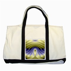 Fractal Eye Fantasy Digital Two Tone Tote Bag