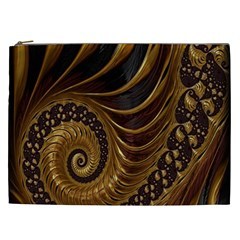Fractal Spiral Endless Mathematics Cosmetic Bag (xxl)  by Nexatart