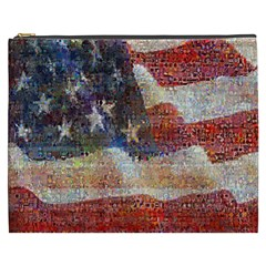 Grunge United State Of Art Flag Cosmetic Bag (xxxl)  by Nexatart