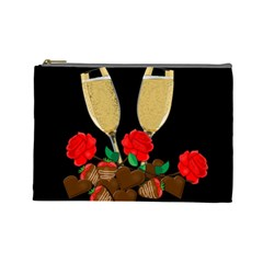 Valentine s Day Design Cosmetic Bag (large)  by Valentinaart